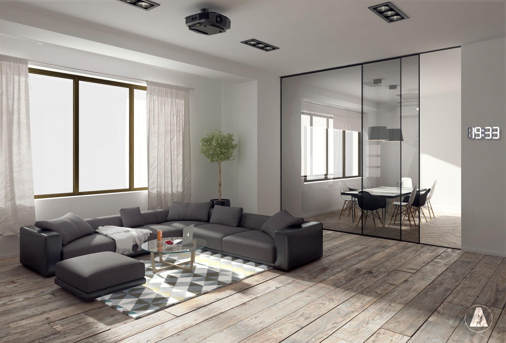 Fibrei House 3D Render Interior Design Modern