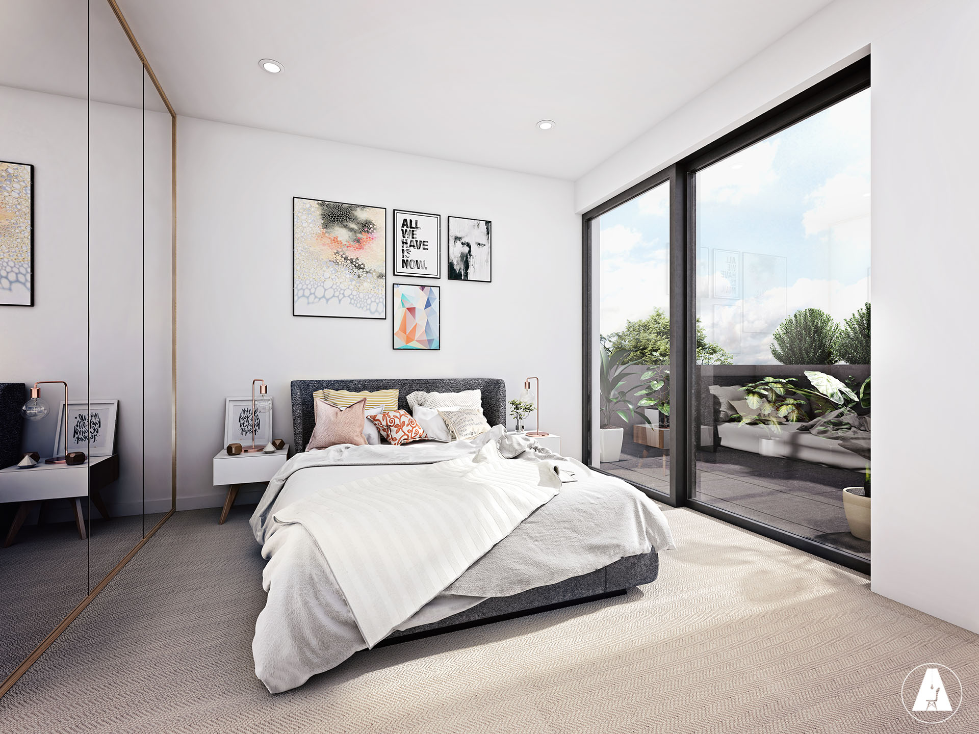 3d renders interior exterior design 3d vizualizations for Interior design bedroom australia