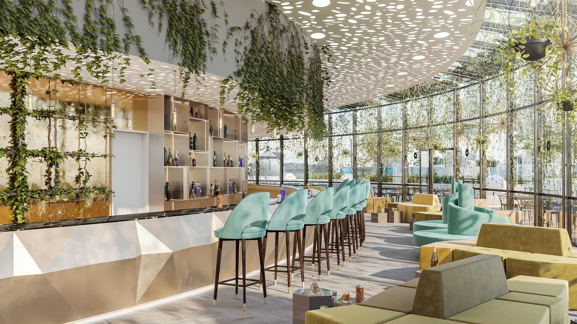 Act UP Bar 3D Render Vizualization Interior Exterior Design Bucharest 4